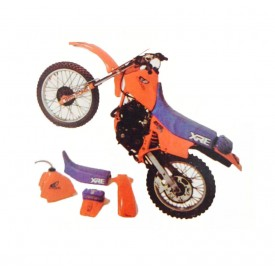 Kit Plástico Hollywood - Visual anos 80 retrô para motos de trilha XL250r, XLX250r, XLX350, Sahara, XR